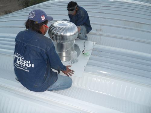 Instalacion de extractores para techos de lamina