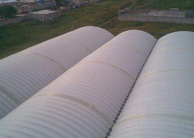 Construccion de techo autosoportante en Chinconcuac