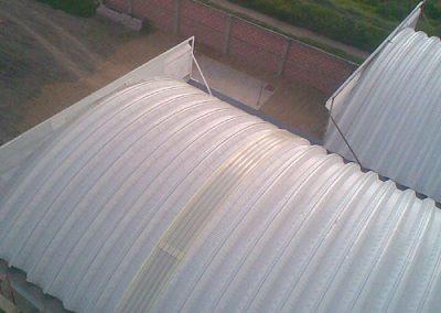 Construccion de arcotecho en Chinconcuac