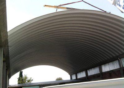 Construccion de arcotecho en Chalco