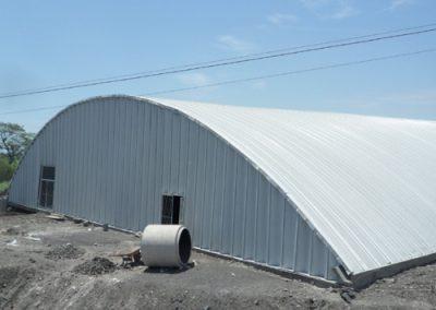 Construccion de techo autosoportante en Ingenio La Gloria México