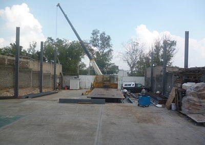 Construcción de bodega en Lago Guadalupe