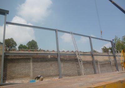 construcción de nave industrial en Lago Guadalupe