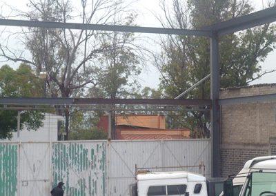 Instalación de techo curvo en Lago Guadalupe