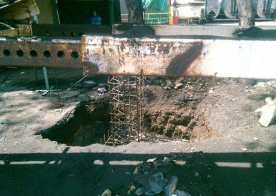 construcción de arcotecho en PINFRA en Ixtapaluca