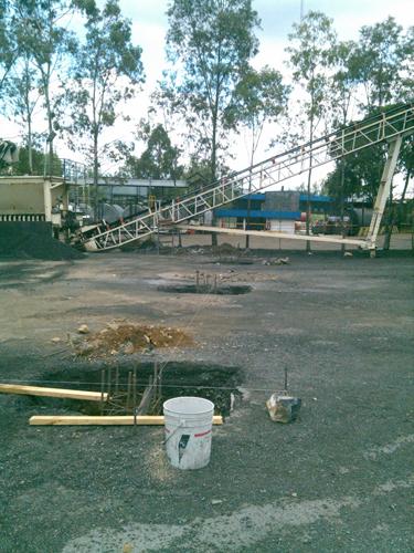 Instalación de arcotecho en PINFRA en Ixtapaluca