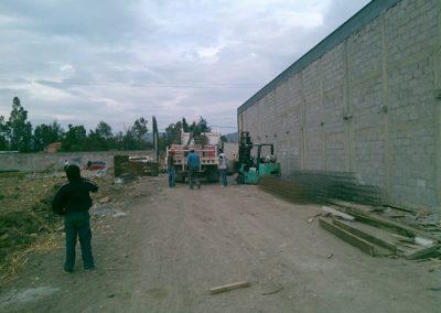 Construcción de bodega en Papalotla