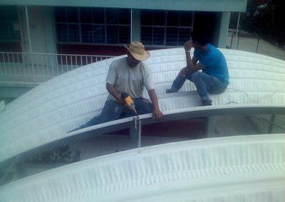 Techado en CONALEP, Contreras