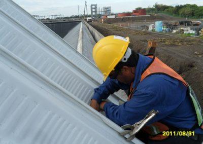 instalacion de arquitecho en El Coyote Veracruz