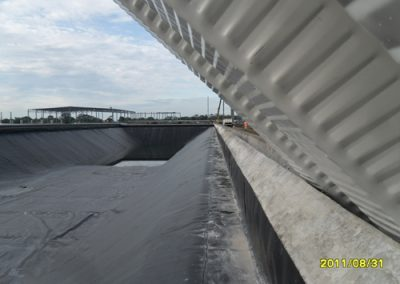 Construccion de techo autosoportante en El Coyote Veracruz