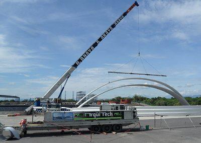 Construccion de arcotecho en El Coyote Veracruz