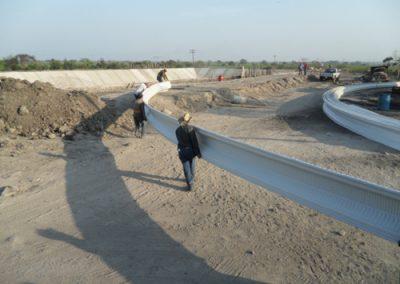 Fabricación de lamina curvas para techos autosoportantes