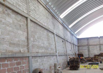 Construccion de techo autosoportante en Gema Tulancingo México