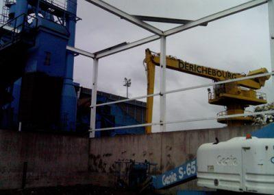 Construccion de arcotecho en Indeinox México