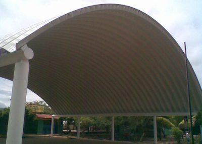 techos autosoportantes curvos en Ixtapa México