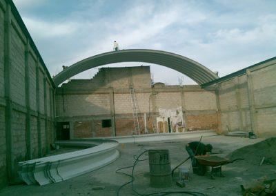 Instalación de techo curvo en Pachuca Hidalgo