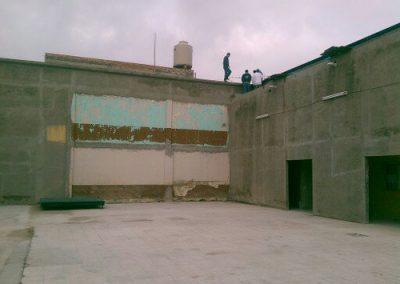 construcción de arcotecho en Templo en San Luis Potosí
