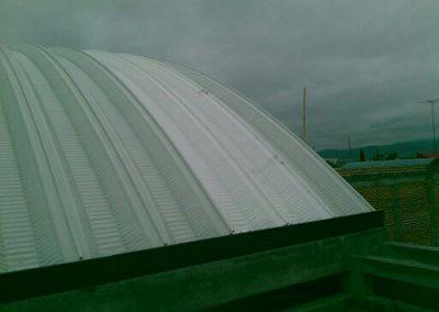 Construcción de techo curvo laminado de Templo en San Luis Potosí