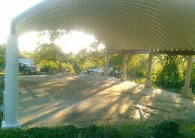 Instalación de techo curvo laminado en Tempoal Veracruz