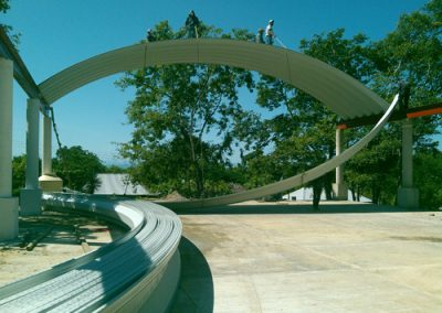 Instalación de arcotecho en Tempoal Veracruz